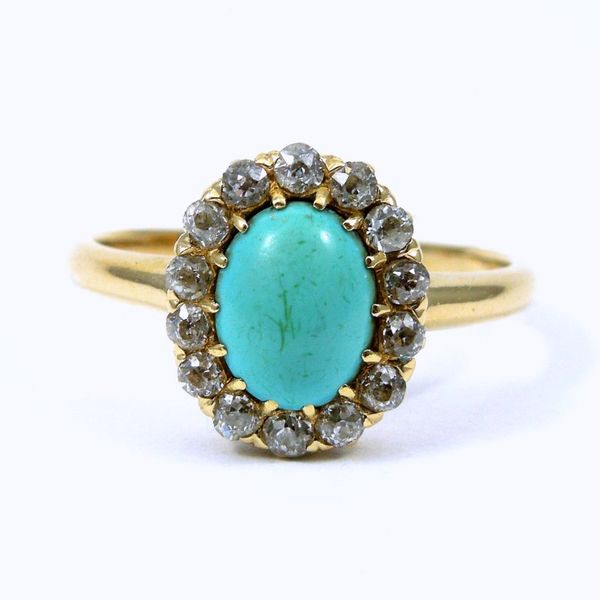 Vintage Turquoise and Diamond Ring Joint Venture Jewelry Cary, NC