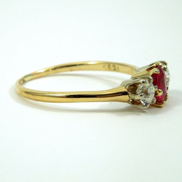 Vintage Ruby and Diamond Ring Image 2 Joint Venture Jewelry Cary, NC