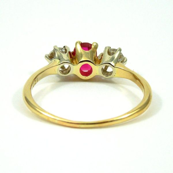 Vintage Ruby and Diamond Ring Image 3 Joint Venture Jewelry Cary, NC