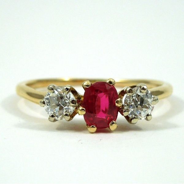 Vintage Ruby and Diamond Ring Joint Venture Jewelry Cary, NC