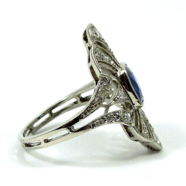 Vintage Ceylon Sapphire and Diamond Ring Image 2 Joint Venture Jewelry Cary, NC