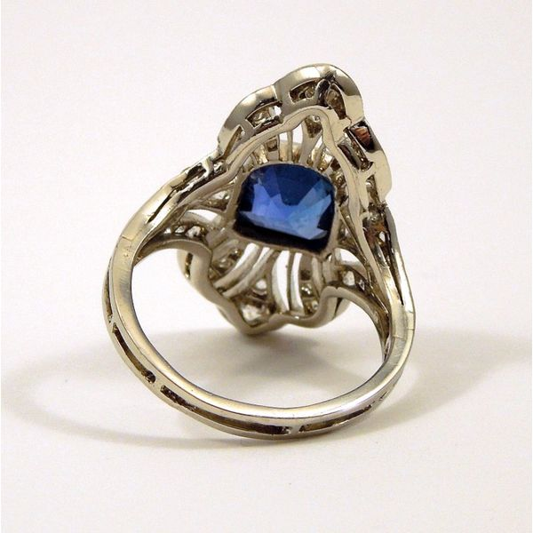 Vintage Ceylon Sapphire and Diamond Ring Image 3 Joint Venture Jewelry Cary, NC