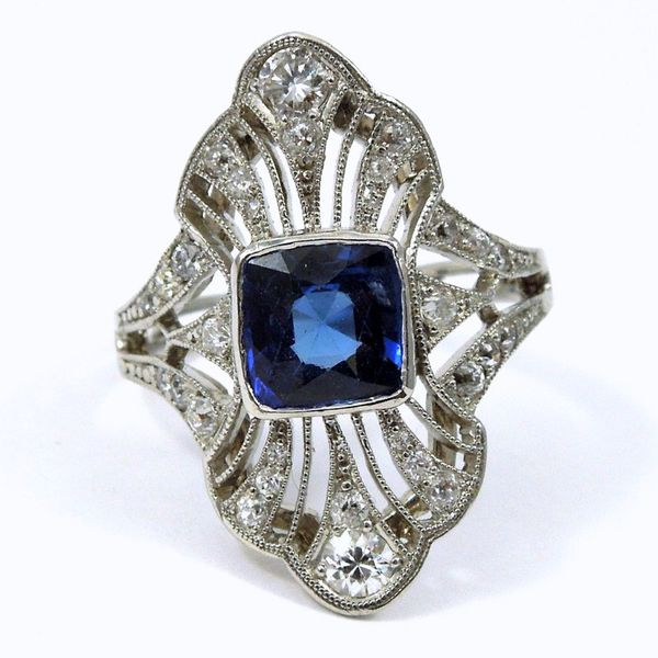 Vintage Ceylon Sapphire and Diamond Ring Joint Venture Jewelry Cary, NC