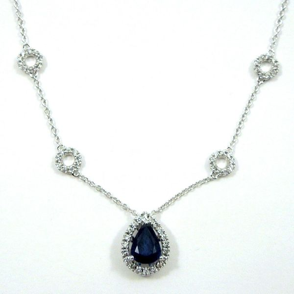 Sapphire and Diamond Necklace Joint Venture Jewelry Cary, NC