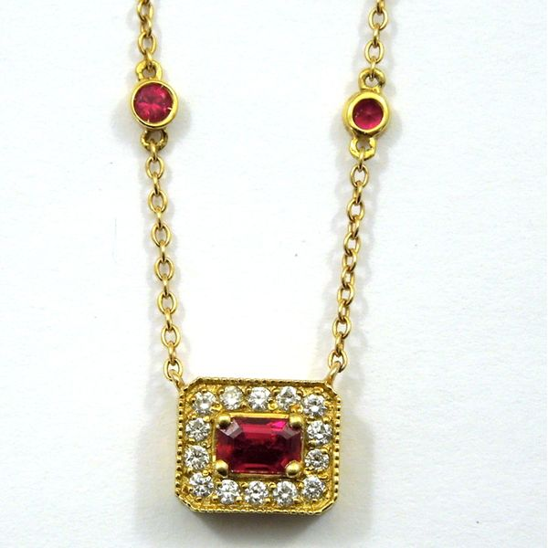 Ruby and Diamond Necklace Joint Venture Jewelry Cary, NC