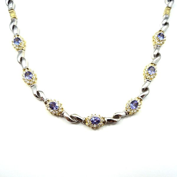 Diamond and Tanzanite Necklace Image 2 Joint Venture Jewelry Cary, NC