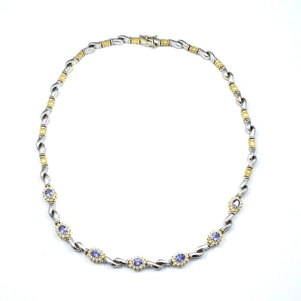 Diamond and Tanzanite Necklace Joint Venture Jewelry Cary, NC