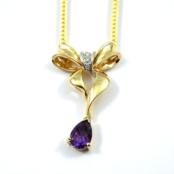 Amethyst Bow Necklace Image 2 Joint Venture Jewelry Cary, NC
