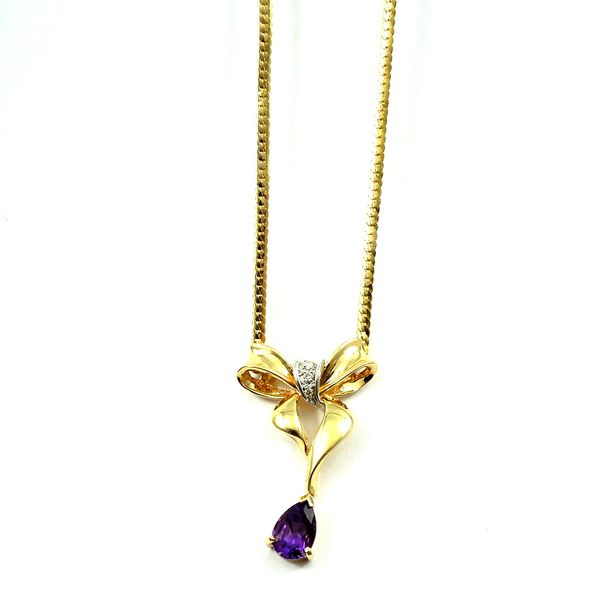Amethyst Bow Necklace Joint Venture Jewelry Cary, NC
