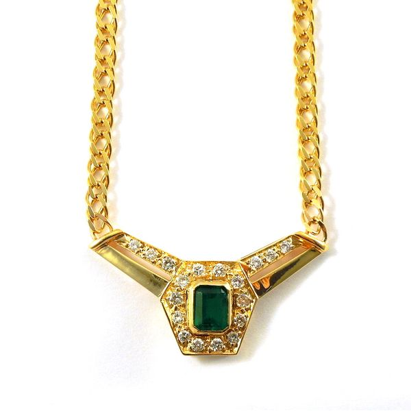 Emerald and Diamond Necklace Joint Venture Jewelry Cary, NC
