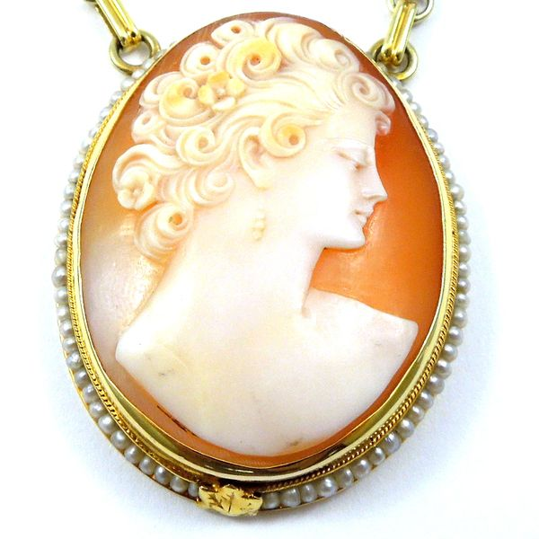 Three Cameo Necklace Image 2 Joint Venture Jewelry Cary, NC