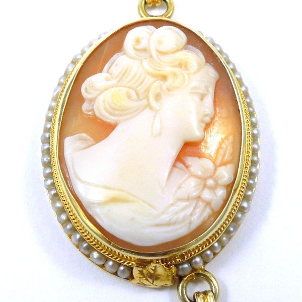 Three Cameo Necklace Image 3 Joint Venture Jewelry Cary, NC