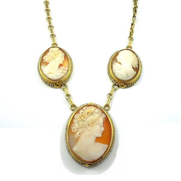 Three Cameo Necklace Joint Venture Jewelry Cary, NC