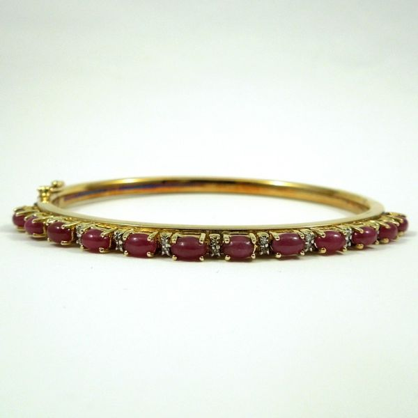 Cabochon Ruby and Diamond Bangle Joint Venture Jewelry Cary, NC