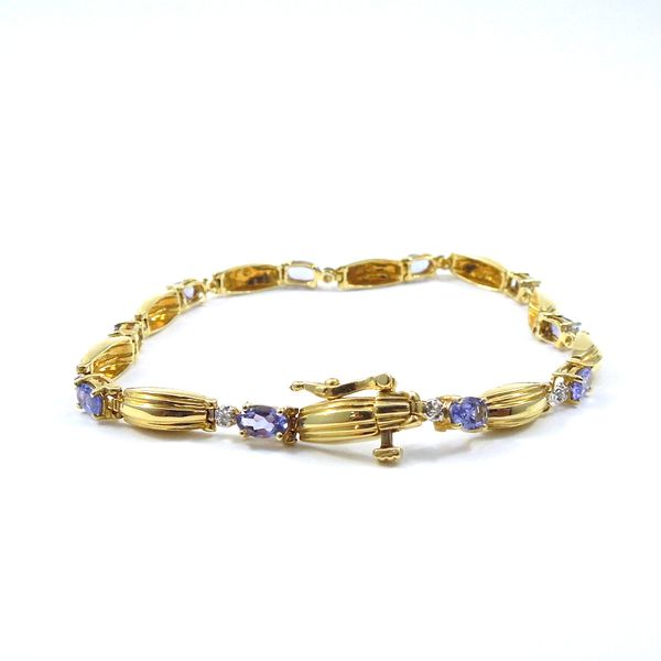 Tanzanite and Diamond Bracelet Image 3 Joint Venture Jewelry Cary, NC