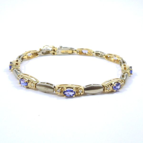 Tanzanite and Diamond Bracelet Joint Venture Jewelry Cary, NC