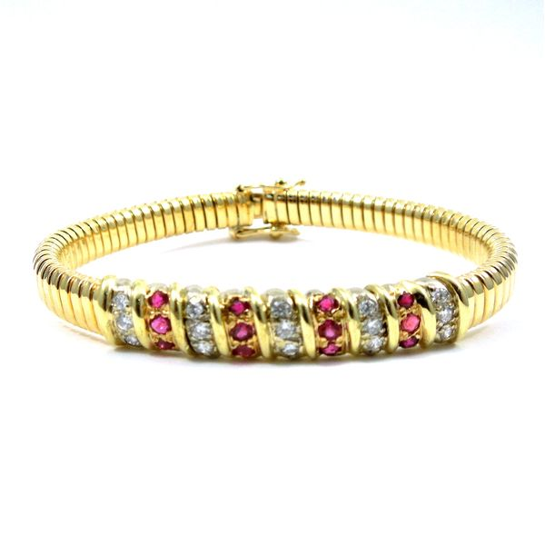 Ruby and Diamond Bracelet Joint Venture Jewelry Cary, NC