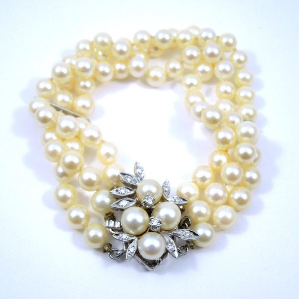 Three Strand Vintage Pearl Bracelet Joint Venture Jewelry Cary, NC