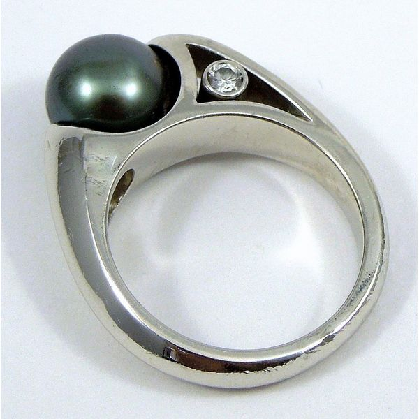 Tahitian Pearl and Diamond Ring Image 2 Joint Venture Jewelry Cary, NC