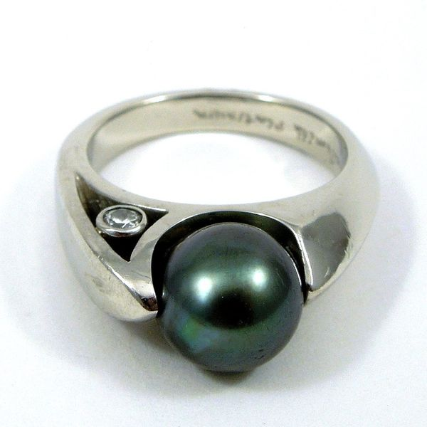 Tahitian Pearl and Diamond Ring Joint Venture Jewelry Cary, NC