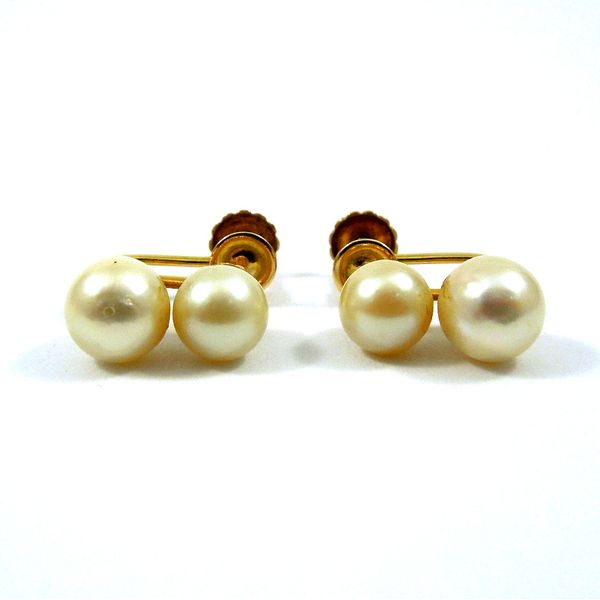 Double Pearl Earrings Joint Venture Jewelry Cary, NC