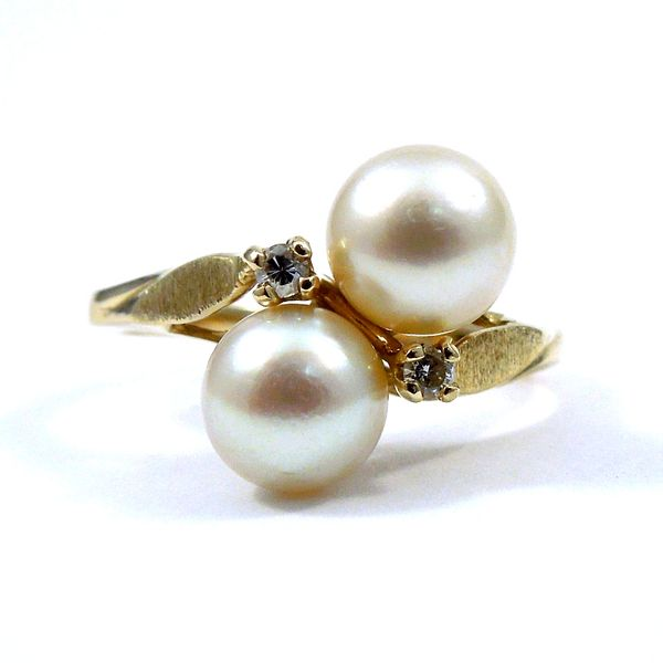 Double Pearl Ring Joint Venture Jewelry Cary, NC