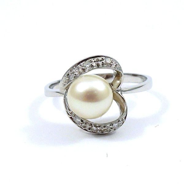 Pearl and Diamond Ring Joint Venture Jewelry Cary, NC