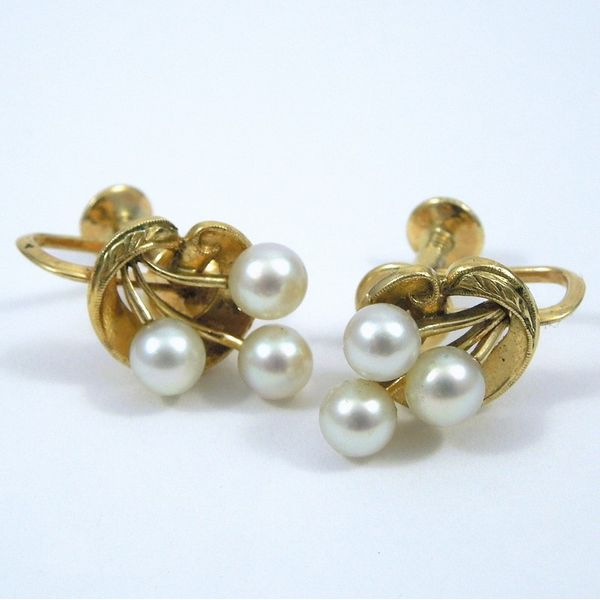 Pearl Cluster Earrings Joint Venture Jewelry Cary, NC