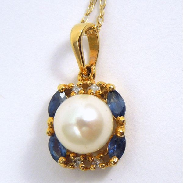 Pearl, Sapphire & Diamond Pendant Joint Venture Jewelry Cary, NC