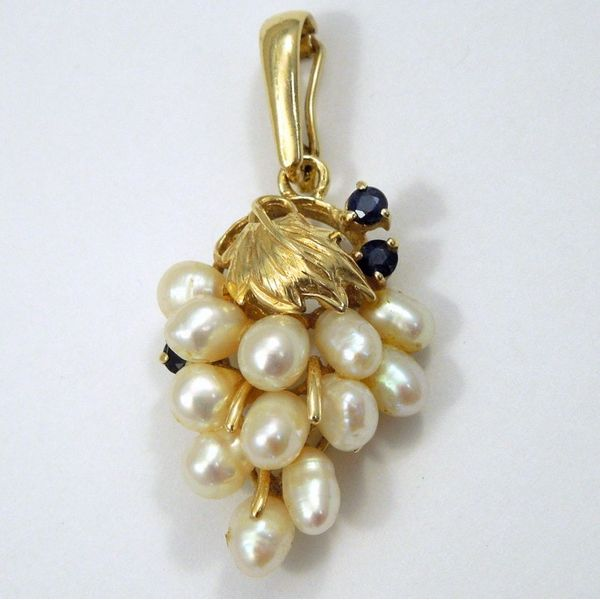 Pearl and Sapphire Pendant Joint Venture Jewelry Cary, NC
