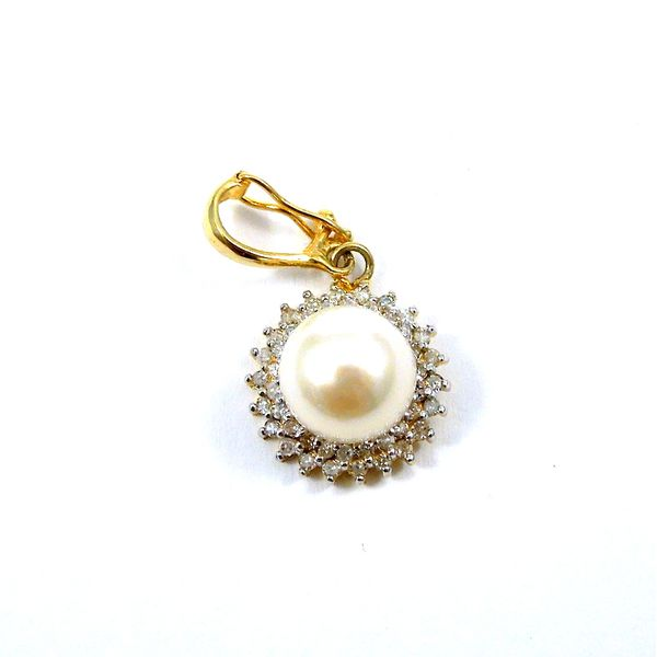 Pearl and Diamond Pendant Image 2 Joint Venture Jewelry Cary, NC