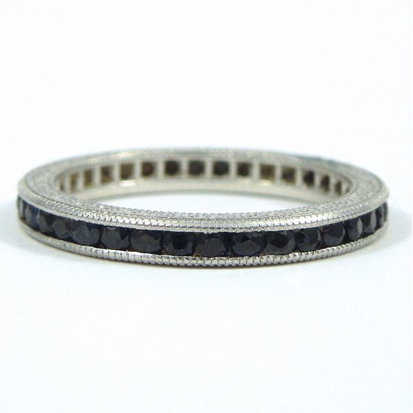 Platinum Sapphire Eternity Band Joint Venture Jewelry Cary, NC