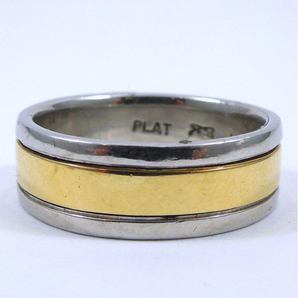 Two Tone Gents Wedding Band Joint Venture Jewelry Cary, NC