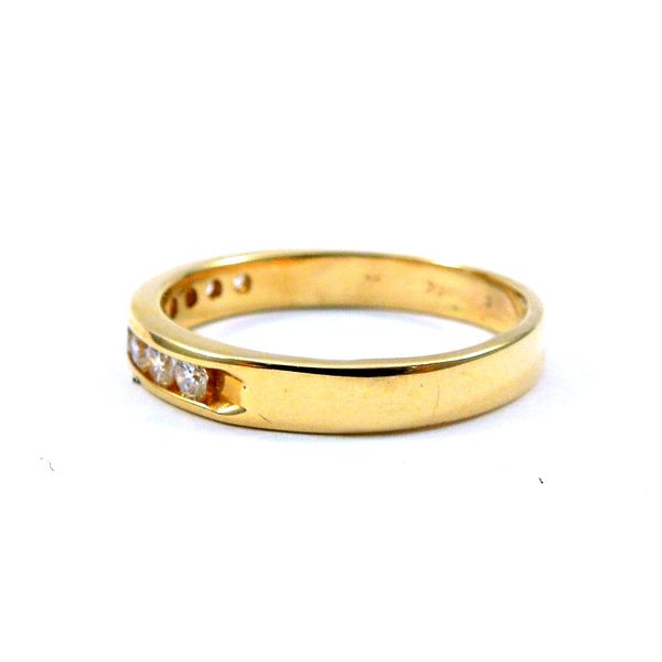 Yellow Gold Diamond Wedding Band Image 2 Joint Venture Jewelry Cary, NC