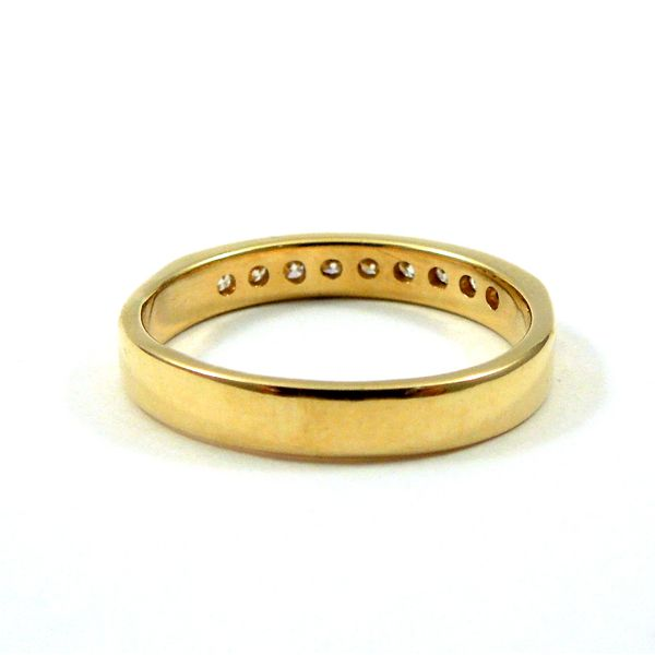 Yellow Gold Diamond Wedding Band Image 3 Joint Venture Jewelry Cary, NC