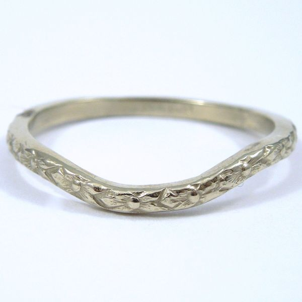 Curved Wedding Band Joint Venture Jewelry Cary, NC