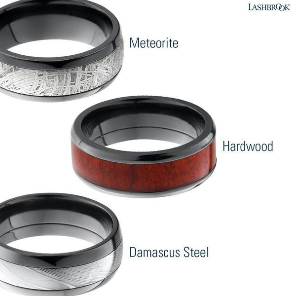 Mix & Match Gents Bands - Non-Traditional Materials Image 3 Joint Venture Jewelry Cary, NC