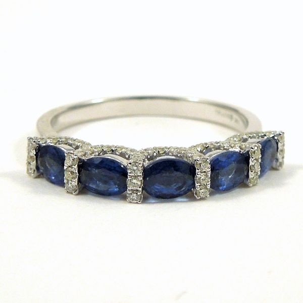 Sapphire & Diamond Wedding Band Joint Venture Jewelry Cary, NC