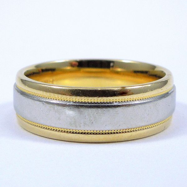Two Tone Wedding Band Joint Venture Jewelry Cary, NC