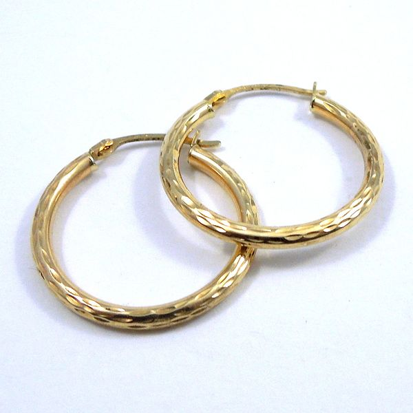 Gold Hoops Joint Venture Jewelry Cary, NC