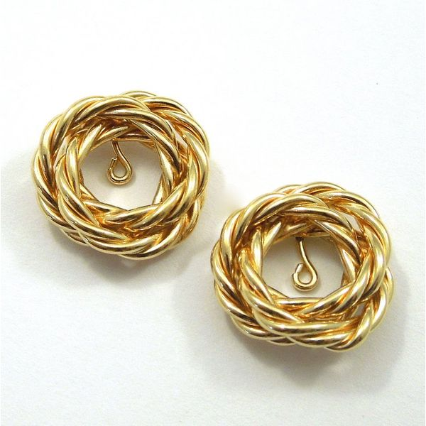 Gold Rope Earring Jackets Joint Venture Jewelry Cary, NC