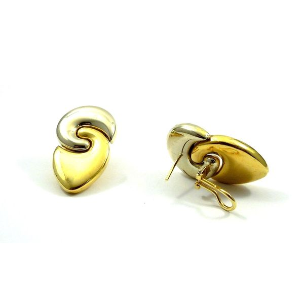 Two Tone Gold Earrings Image 2 Joint Venture Jewelry Cary, NC