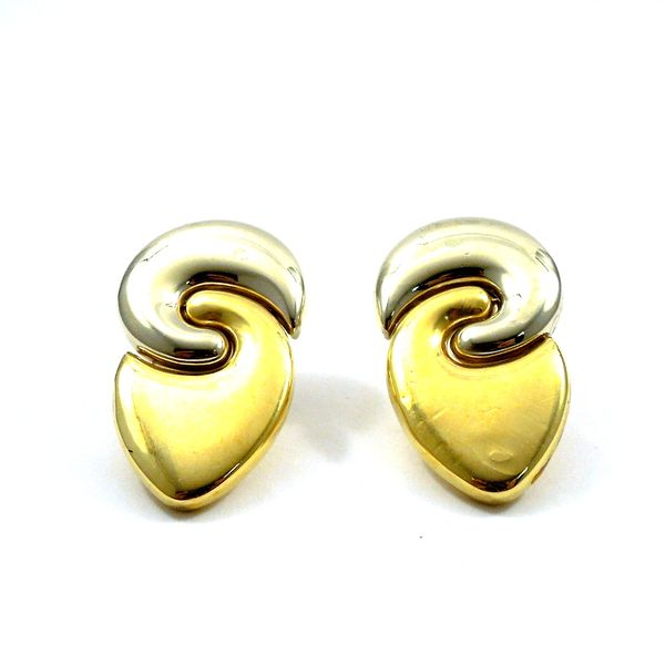 Two Tone Gold Earrings Joint Venture Jewelry Cary, NC