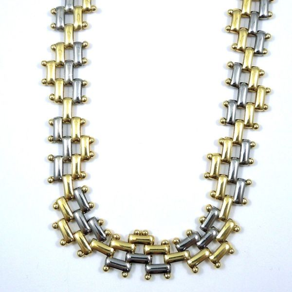 Two Tone Link Necklace Joint Venture Jewelry Cary, NC