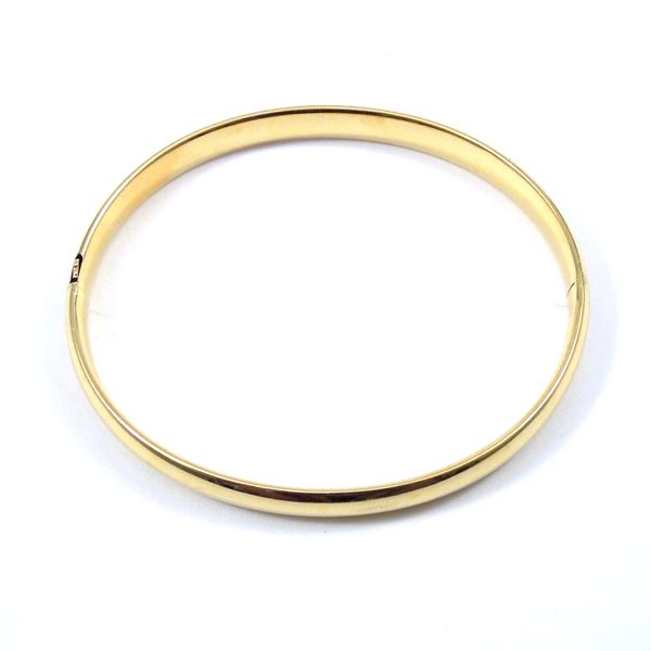 Gold Bangle Bracelet Image 3 Joint Venture Jewelry Cary, NC