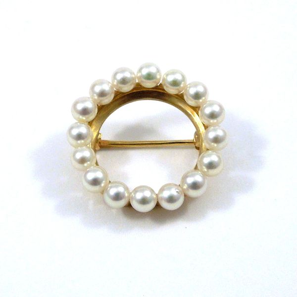 Pearl Circle Pin Joint Venture Jewelry Cary, NC