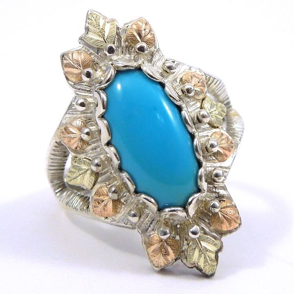 Oval Cut Turquoise Ring Joint Venture Jewelry Cary, NC