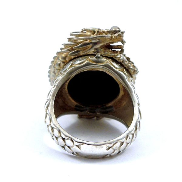 Onyx Dragon Ring Image 3 Joint Venture Jewelry Cary, NC
