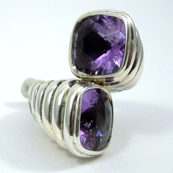 John Hard Double Amethyst Ring Image 2 Joint Venture Jewelry Cary, NC