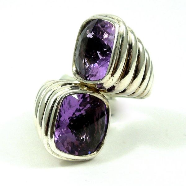 John Hard Double Amethyst Ring Joint Venture Jewelry Cary, NC